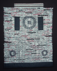 "Kyoto Mon, Travel Document Series, 55"" x 44,"" 1988 , Asian Papers, fiber, silk, collage, painted, woven."
